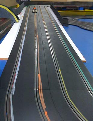 4 lanes of slot cars