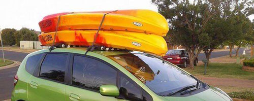 Kayaks and roof racks from Adventure Watersports